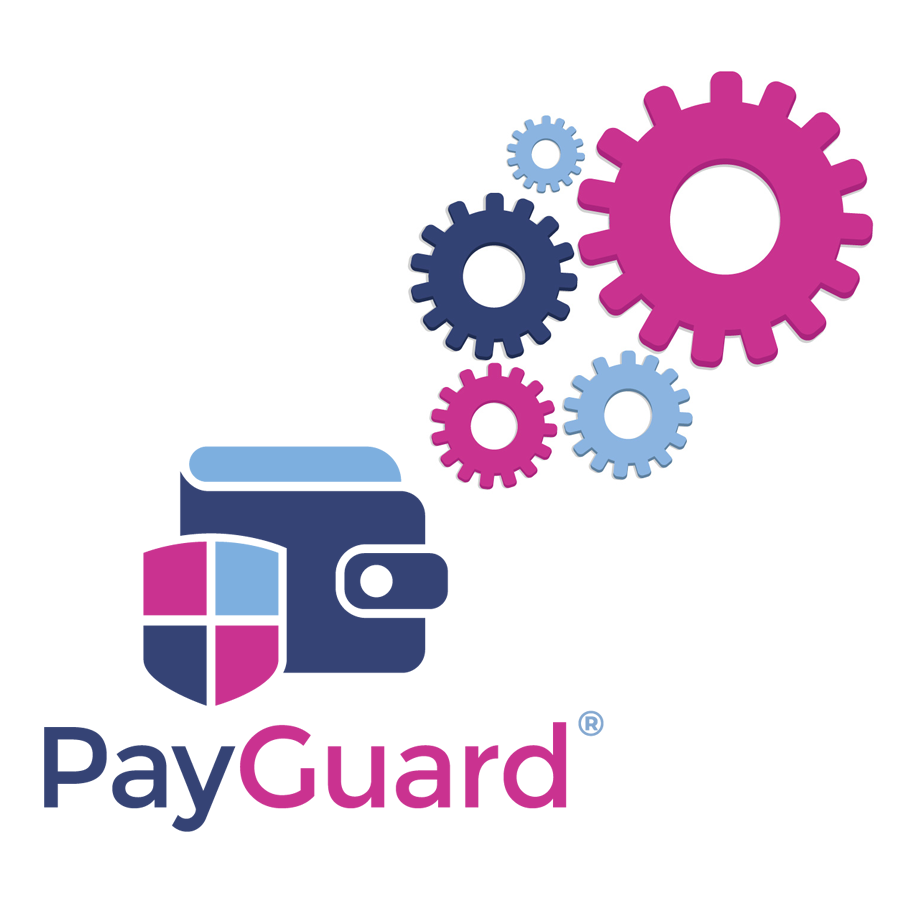 How Paguard works logo and cogs